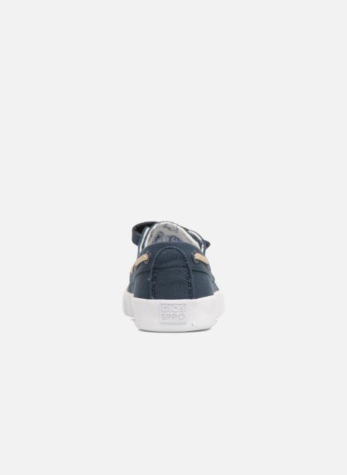 Zapatos con velcro Gioseppo Enzo Azul vista lateral derecha