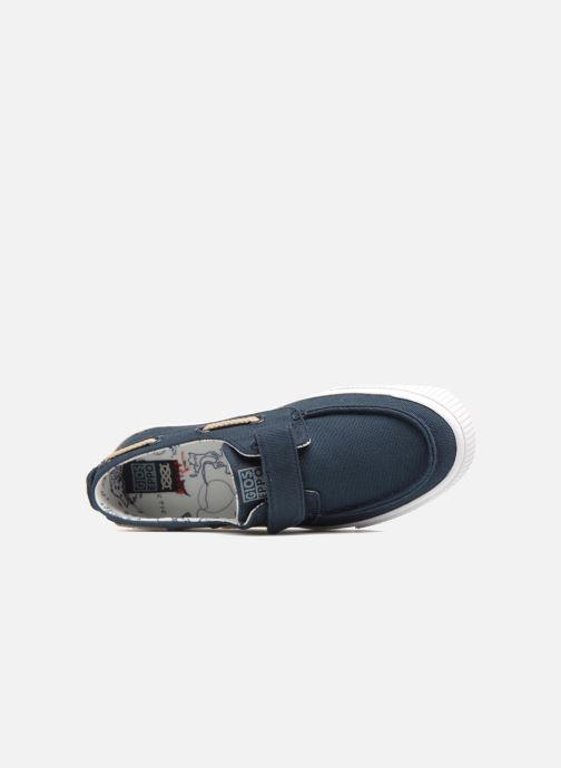 Zapatos con velcro Gioseppo Enzo Azul vista lateral izquierda