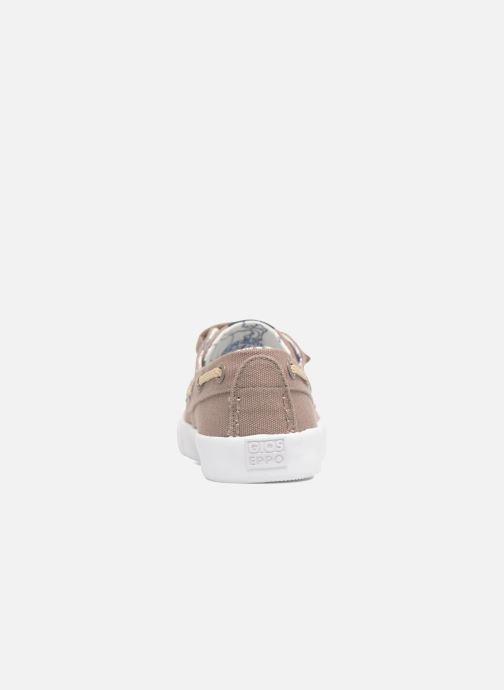 Zapatos con velcro Gioseppo Enzo Beige vista lateral derecha
