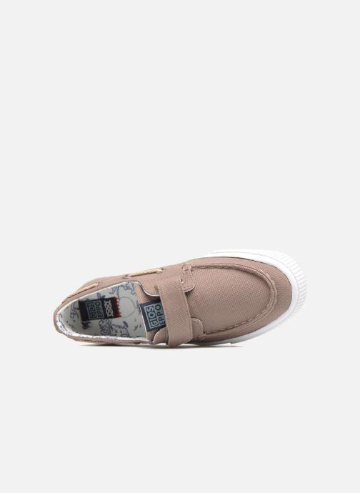 Zapatos con velcro Gioseppo Enzo Beige vista lateral izquierda