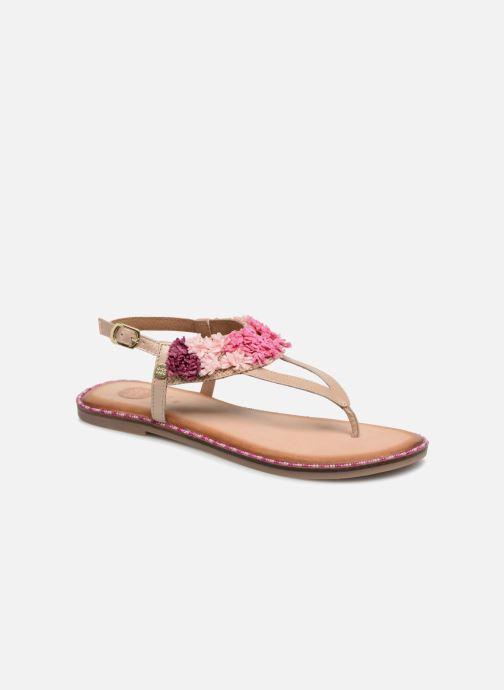 Sandales et nu-pieds Gioseppo Kiara Or et bronze vue détail/paire