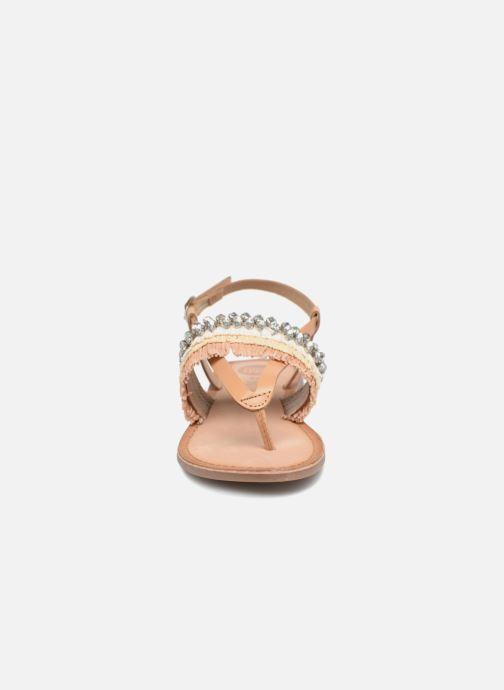 Sandales et nu-pieds Gioseppo Josefina Marron vue portées chaussures