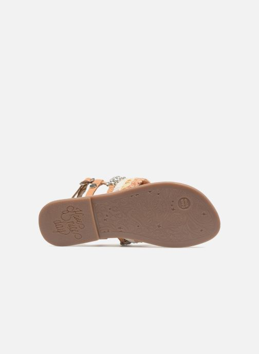 Sandales et nu-pieds Gioseppo Josefina Marron vue haut