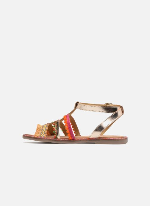 Sandales et nu-pieds Gioseppo Isis Or et bronze vue face