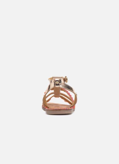Sandales et nu-pieds Gioseppo Isis Or et bronze vue droite