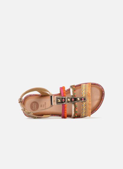 Sandales et nu-pieds Gioseppo Isis Or et bronze vue gauche