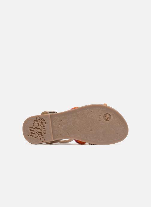 Sandales et nu-pieds Gioseppo Isis Or et bronze vue haut