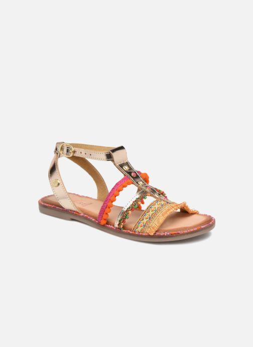 Sandales et nu-pieds Gioseppo Isis Or et bronze vue détail/paire