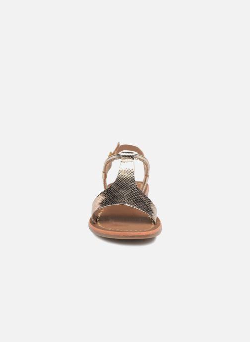 Sandales et nu-pieds Gioseppo Arida Or et bronze vue portées chaussures