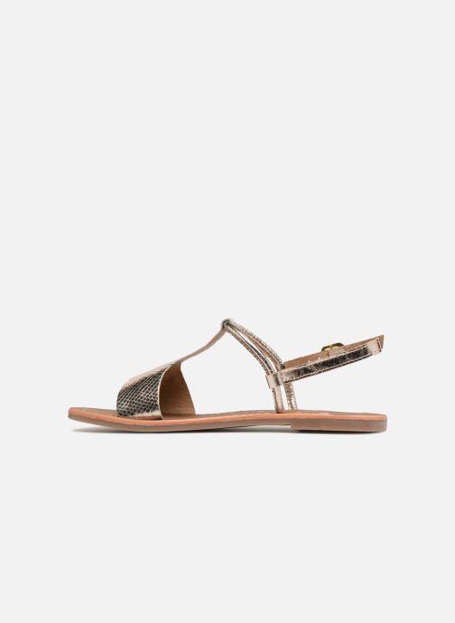 Sandales et nu-pieds Gioseppo Arida Or et bronze vue face