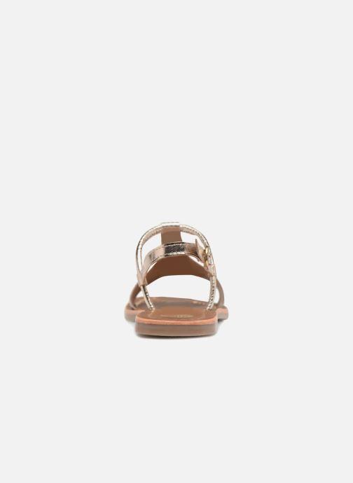 Sandales et nu-pieds Gioseppo Arida Or et bronze vue droite