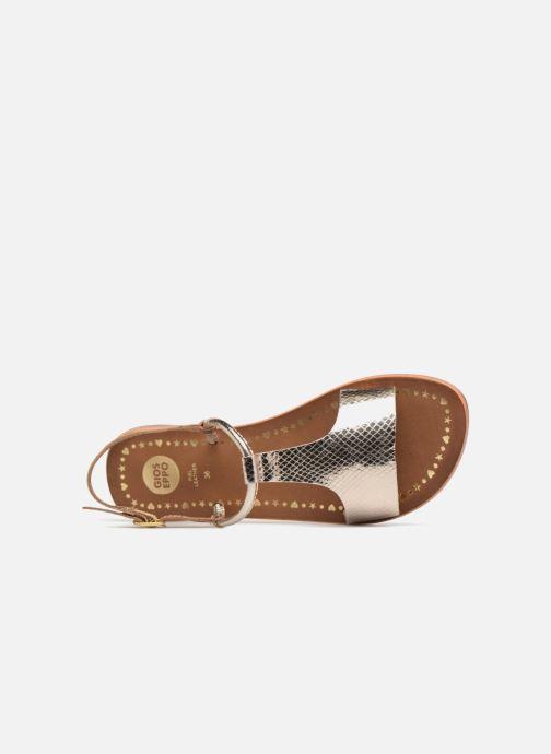 Sandales et nu-pieds Gioseppo Arida Or et bronze vue gauche