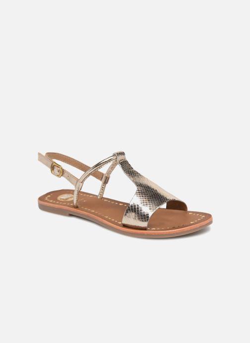 Sandales et nu-pieds Gioseppo Arida Or et bronze vue détail/paire