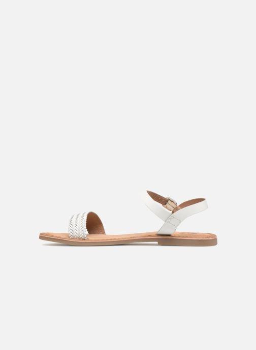 Sandales et nu-pieds Gioseppo Graminea Blanc vue face