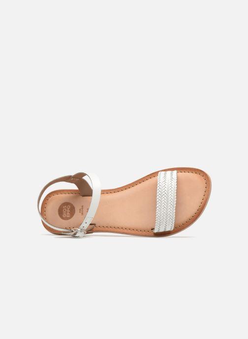 Sandales et nu-pieds Gioseppo Graminea Blanc vue gauche