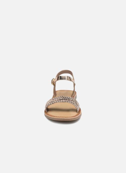 Sandales et nu-pieds Gioseppo Graminea Or et bronze vue portées chaussures