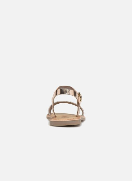 Sandales et nu-pieds Gioseppo Graminea Or et bronze vue droite