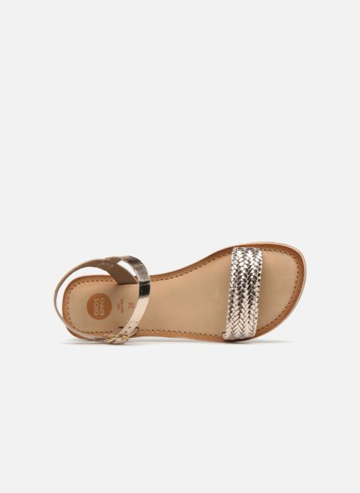 Sandales et nu-pieds Gioseppo Graminea Or et bronze vue gauche