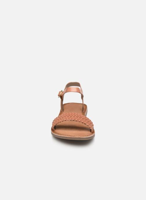 Sandales et nu-pieds Gioseppo Graminea Marron vue portées chaussures