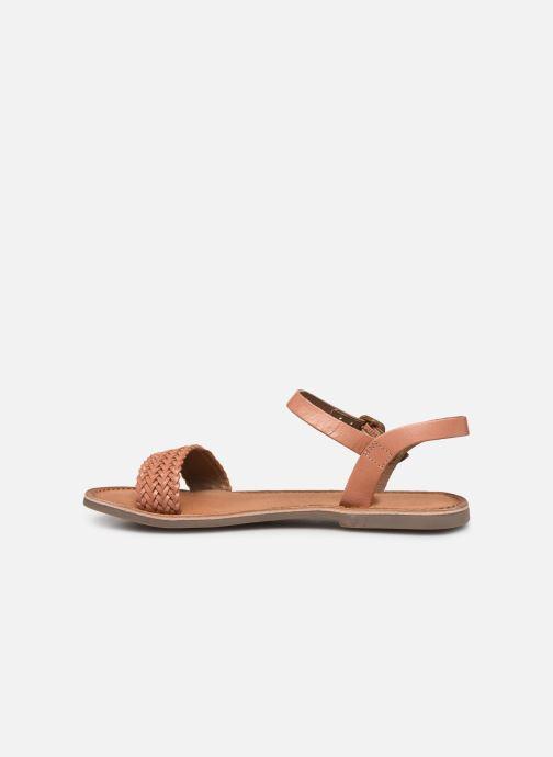 Sandales et nu-pieds Gioseppo Graminea Marron vue face