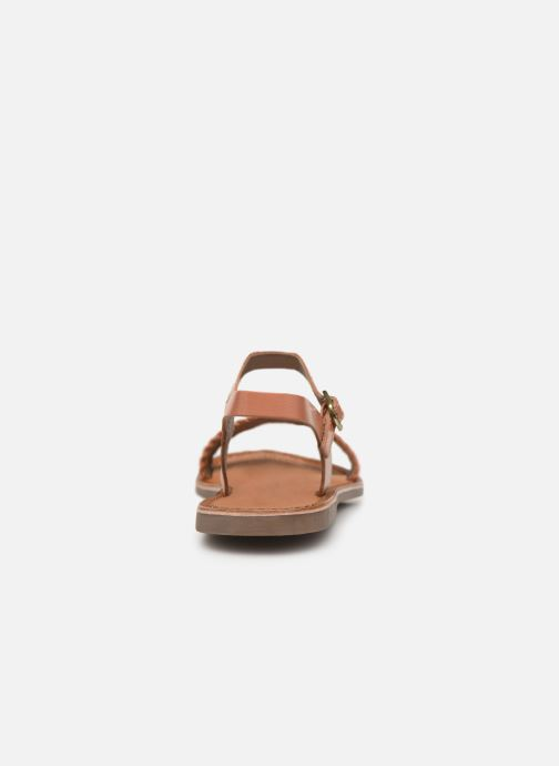 Sandals Gioseppo Graminea Brown view from the right