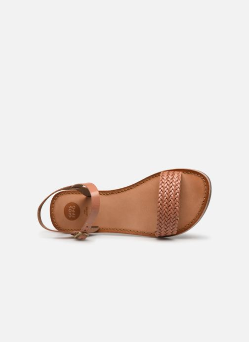 Sandals Gioseppo Graminea Brown view from the left