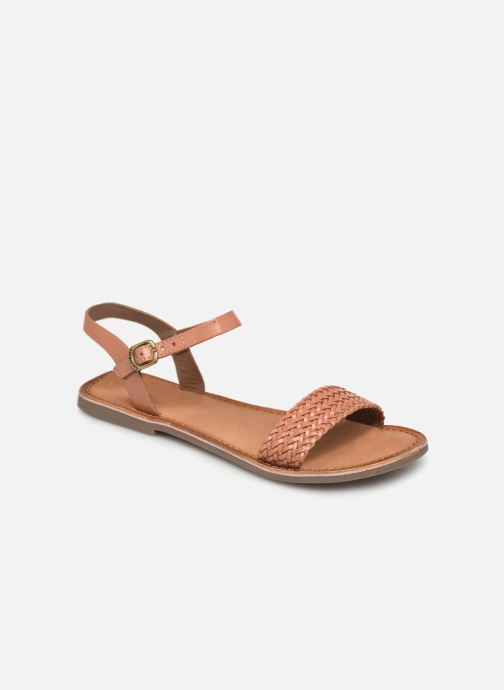 Sandals Gioseppo Graminea Brown detailed view/ Pair view