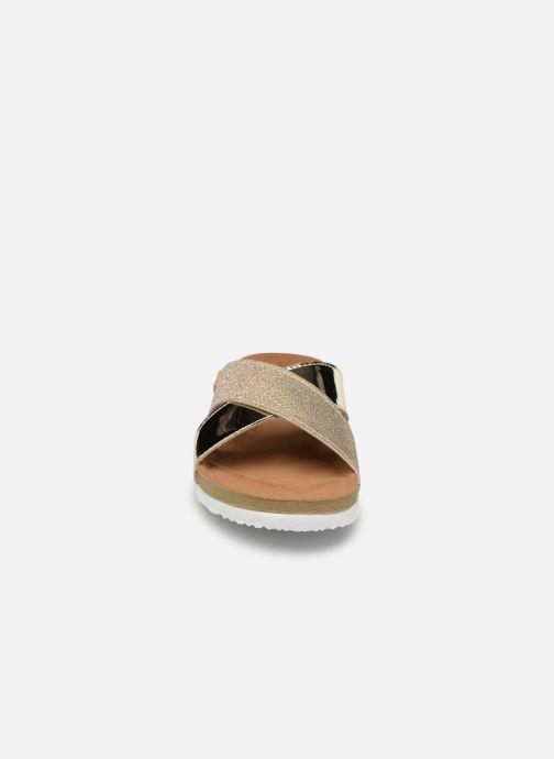 Sandales et nu-pieds Gioseppo Natasha Or et bronze vue portées chaussures