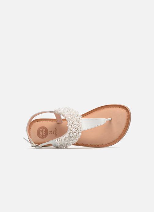 Sandales et nu-pieds Gioseppo Judith Blanc vue gauche