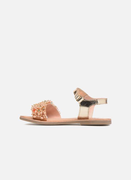 Sandales et nu-pieds Gioseppo Ingrid Or et bronze vue face