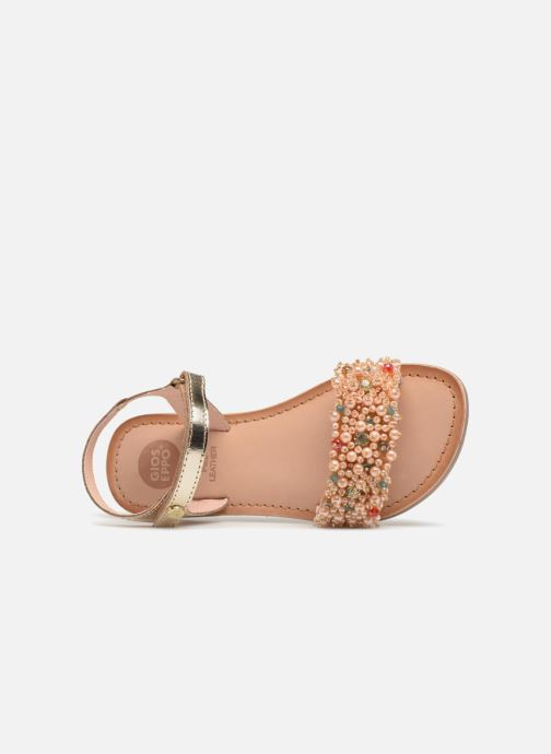 Sandales et nu-pieds Gioseppo Ingrid Or et bronze vue gauche