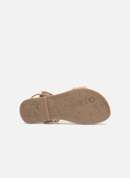 Sandales et nu-pieds Gioseppo Ingrid Or et bronze vue haut