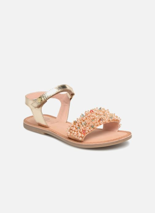 Sandales et nu-pieds Gioseppo Ingrid Or et bronze vue détail/paire
