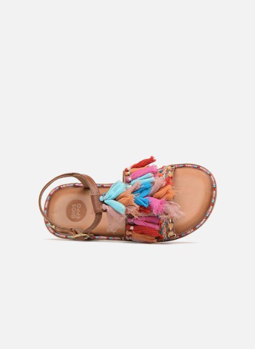 Sandali e scarpe aperte Gioseppo Gina Marrone immagine sinistra