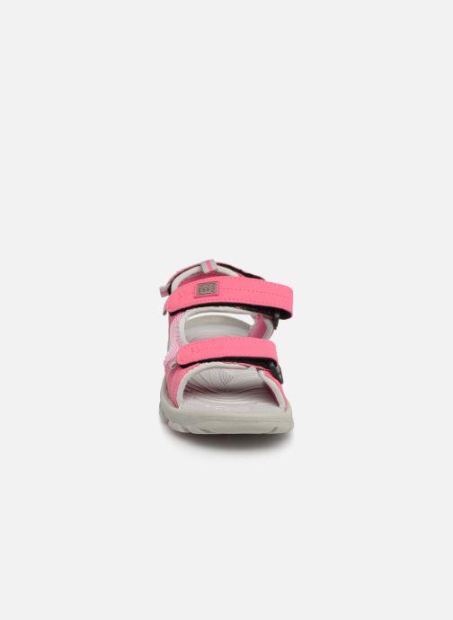 Sandales et nu-pieds Gioseppo Baltazar Rose vue portées chaussures