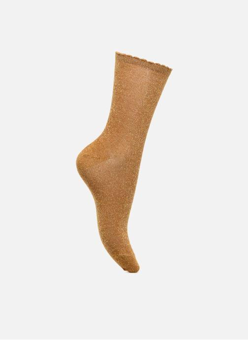 Chaussettes et collants Pieces Chaussettes Sebby Glitter Long Jaune vue détail/paire
