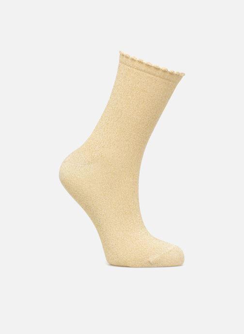 Sokken en panty's Pieces Chaussettes Sebby Glitter Long Goud en brons detail