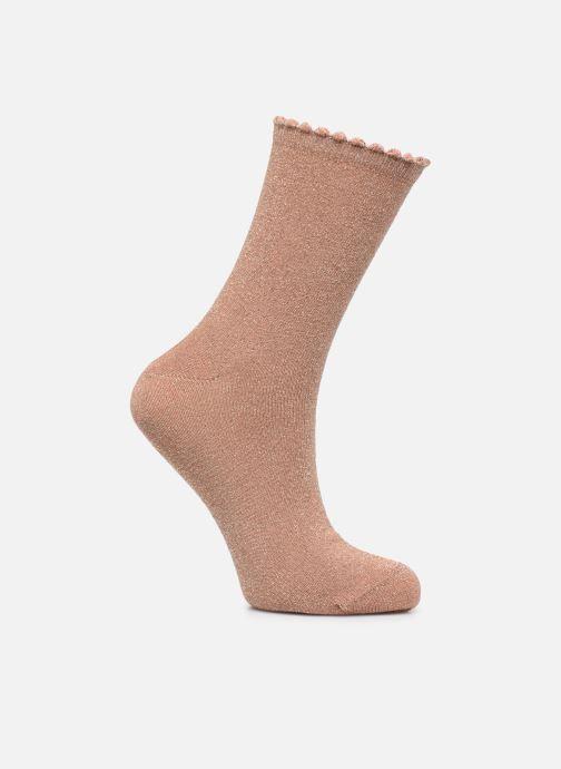 Socken & Strumpfhosen Pieces Chaussettes Sebby Glitter Long braun detaillierte ansicht/modell