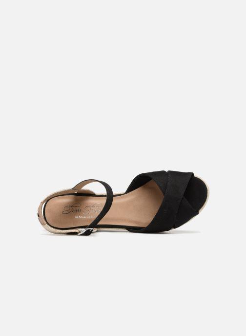 Sandalen Tom Tailor Margi Zwart links