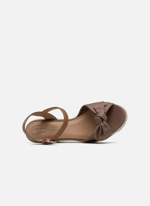 Espadrilles Tom Tailor Mathu Marron vue gauche