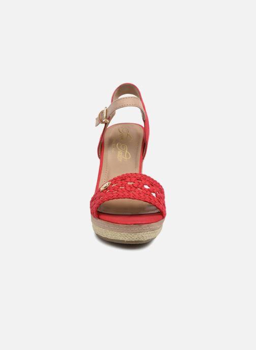 Espadrilles Tom Tailor Aly Rouge vue portées chaussures