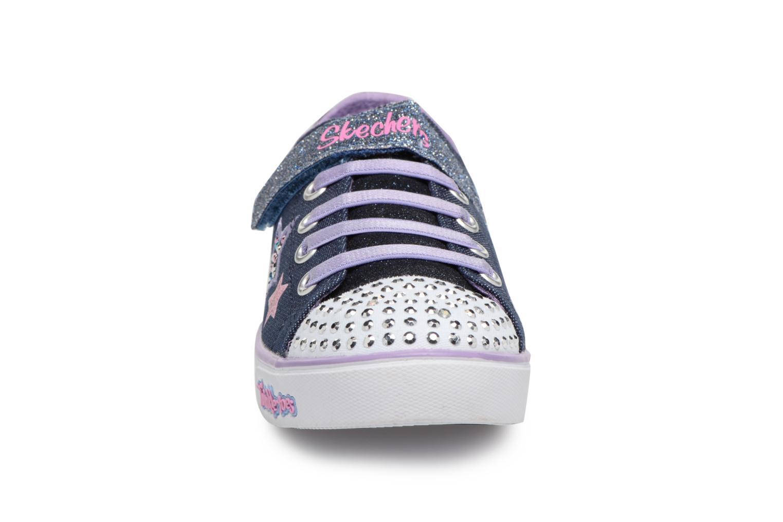 Baskets Skechers Sparkle Glitz Twinklerella Noir vue portées chaussures