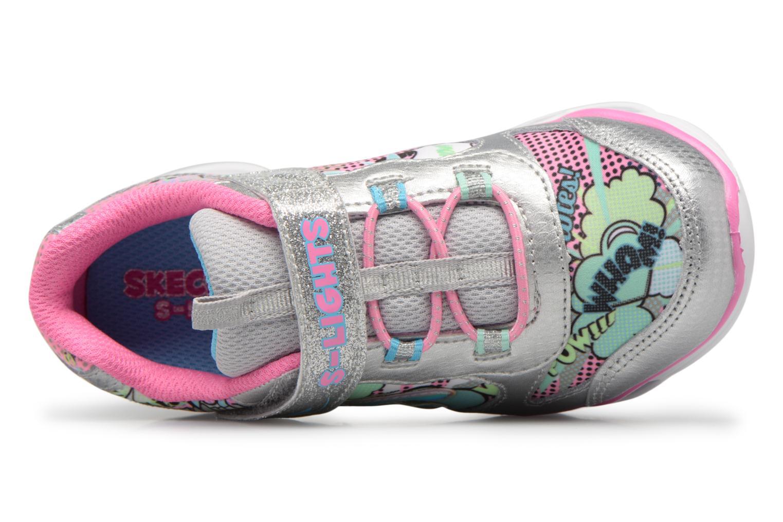 Scarpe sportive Skechers Lumi-Luxe Argento immagine sinistra