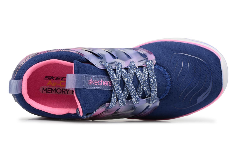 Sportschuhe Skechers Diamond Runner blau ansicht von links