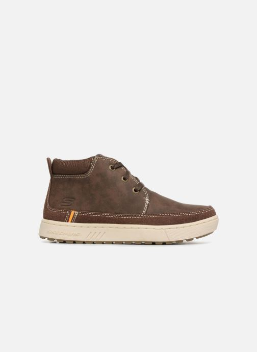 Lace-up shoes Skechers Direct Pulse Brown back view