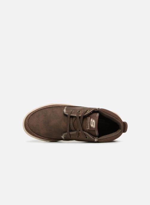 Zapatos con cordones Skechers Direct Pulse Marrón vista lateral izquierda