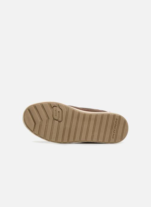 Chaussures à lacets Skechers Direct Pulse Marron vue haut