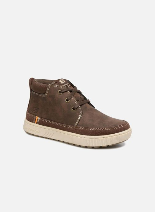 Lace-up shoes Skechers Direct Pulse Brown detailed view/ Pair view
