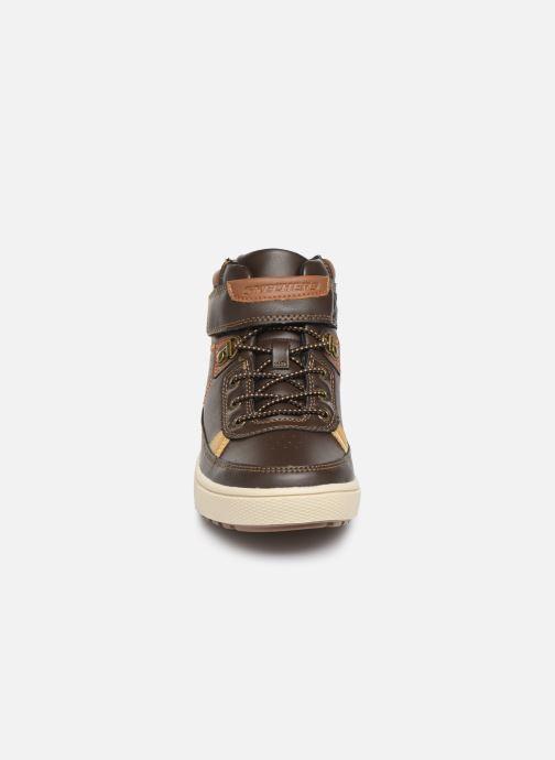 Chaussures à lacets Skechers Direct Pulse Marron vue portées chaussures