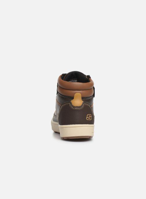 Zapatos con cordones Skechers Direct Pulse Marrón vista lateral derecha